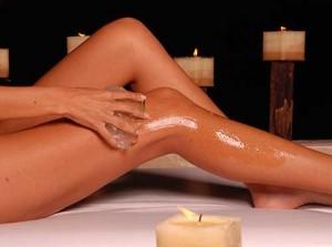 Masaje con aceite de almendras